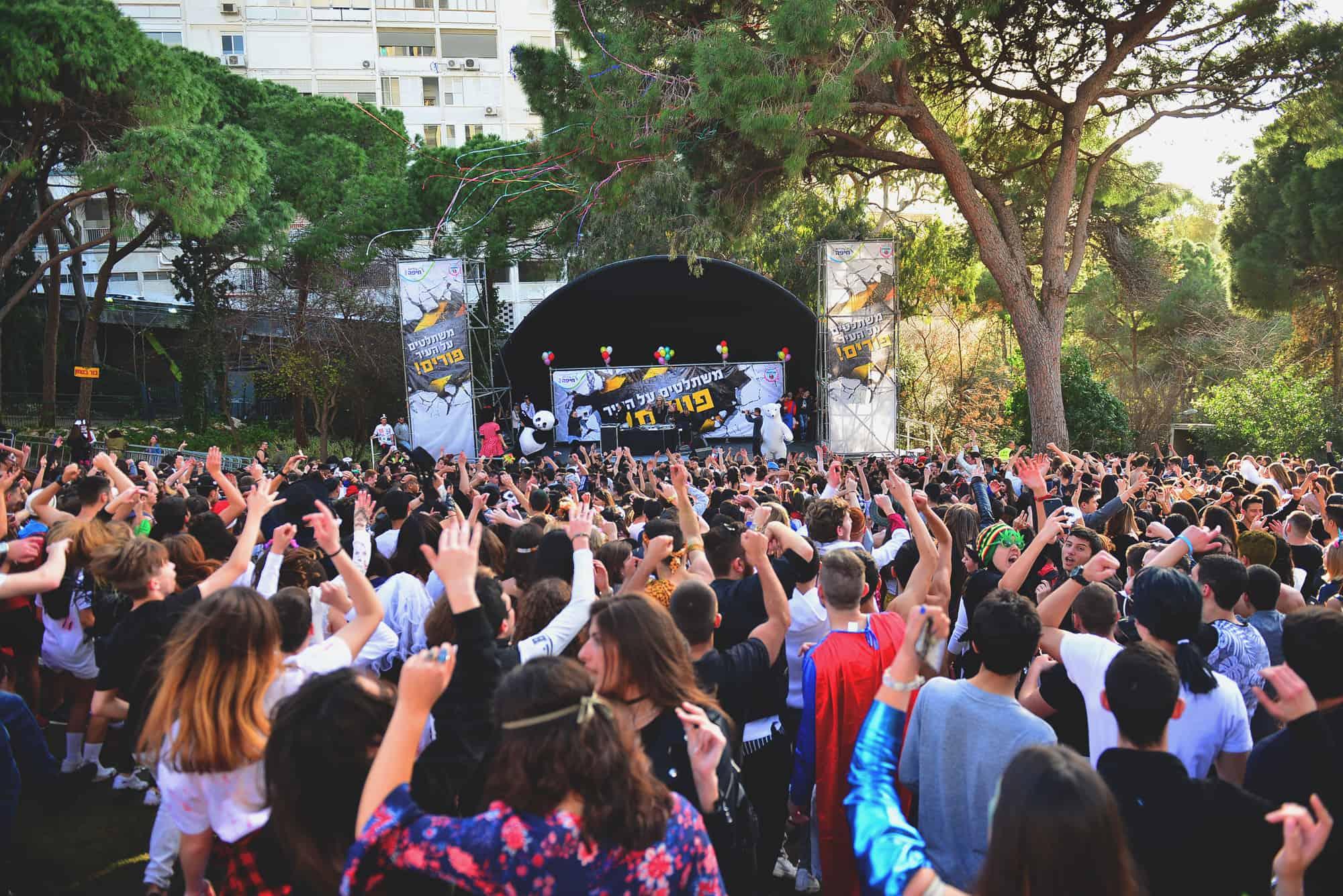 והעיר חיפה צהלה ושמחה!