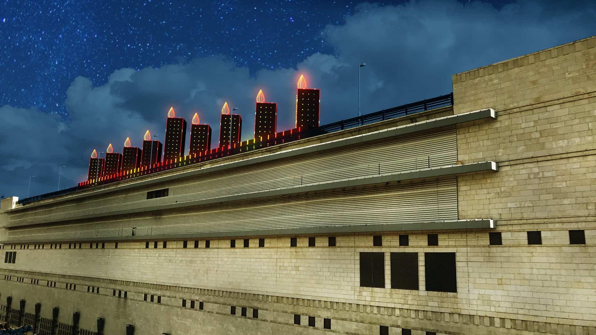 חנוכיית ענק תוקם על גג קניון הדר בירושלים