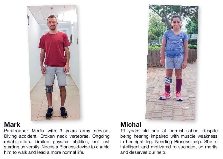 דמי חנוכה: לילדה בת 11 הסובלת משיתוק מוחין (CP), ולחובש קרבי בצנחנים שנפצע