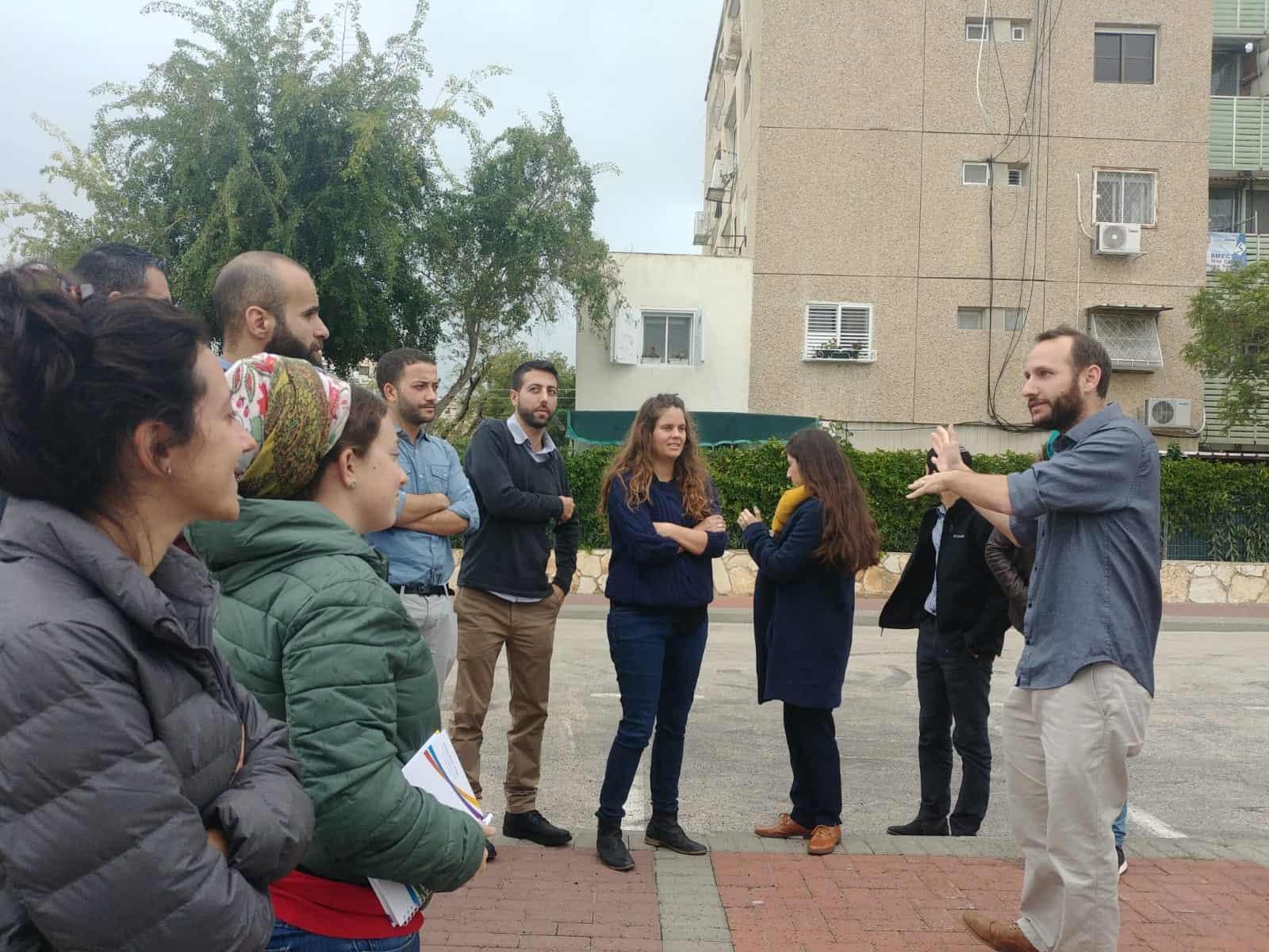 צוערי השלטון המקומי הגיעו לקריית ים  ללמוד על התחדשות עירונית