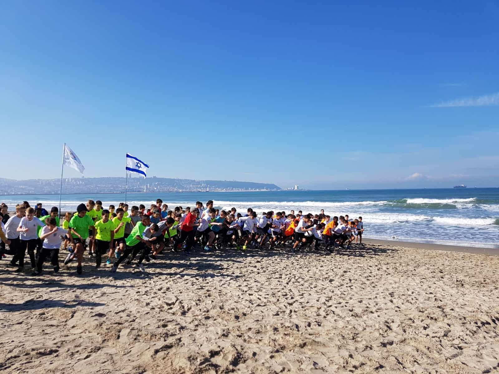 קרית ים: אליפות מרוצי שדה בחוף הים