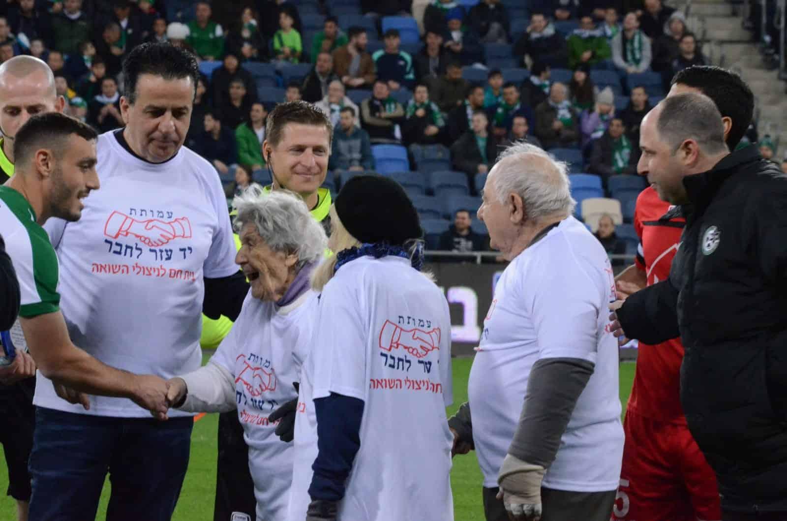 טקס בהשתתפות ניצולי שואה התקיים בתחילת המשחק של מכבי חיפה