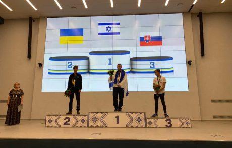 רועי אשר זכה במדליית זהב באליפות אירופה לנוער בסקי מים- סלאלום