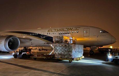 הותר לפרסום: רכבת אווירית מסין לישראל עם ציוד רפואי