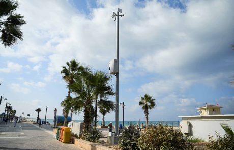 חיפה: 50 מצלמות אבטחה חדישות הותקנו בטיילות חופי הרחצה