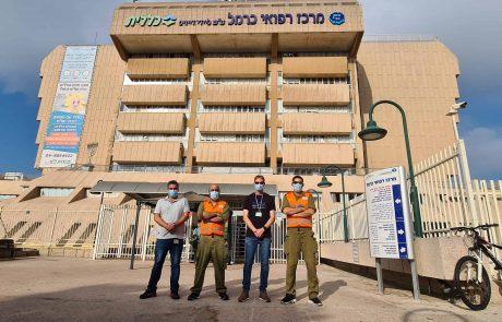 """ביה""""ח כרמל בחיפה: אירועי הגניבות ירדו ב- 25 אחוז"""