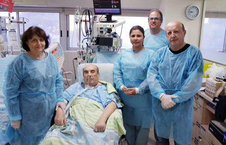 """ביה""""ח כרמל: חייו של בן 66 ניצלו בניתוח חירום שבוצע בליבו"""