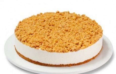 לשבועות: עוגת גבינה פירורים
