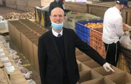 עפולה: חלוקת מזון לחג הפסח למאות תושבים
