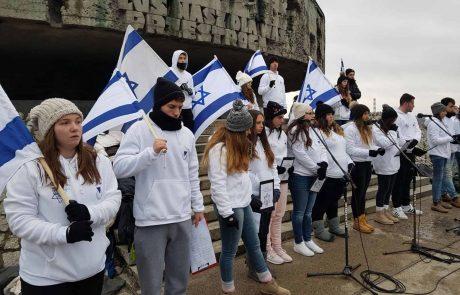 נשר העיר היחידה שמממנת לפחות 50% מעלות המסע ללימוד השואה