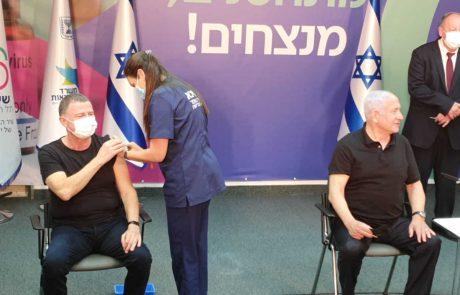 ראש הממשלה ושר הבריאות קיבלו את מנת החיסון השנייה נגד קורונה