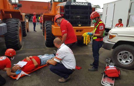 """מד""""א והצלב האדום הפיליפיני בתרגול אירוע רב נפגעים"""