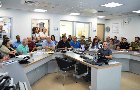עיריית חיפה תירגלה מערך הפעלה חדש בחירום
