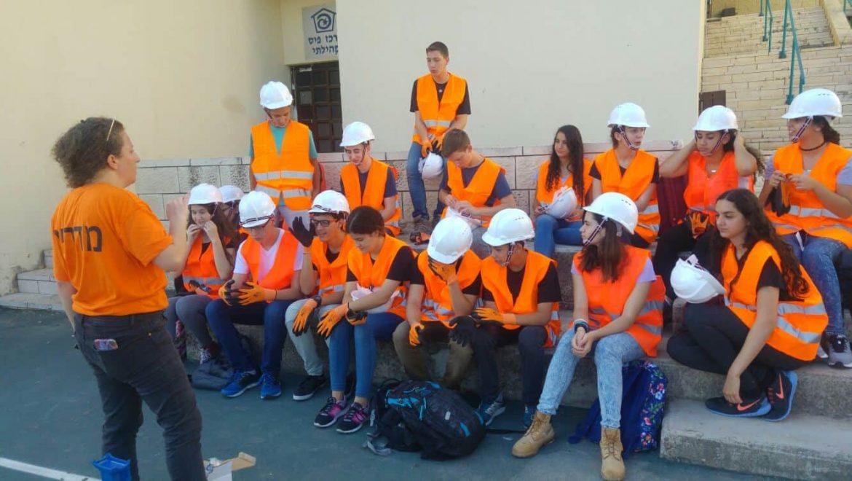 נשר: קורס חילוץ והצלה לתלמידי כיתות י' מתיכון מקיף