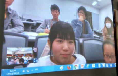 קרית ים: לומדים עם תלמידים ביפן