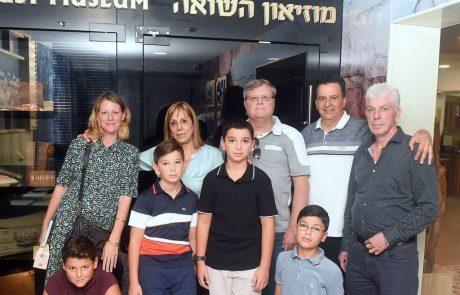 """ירדנה עובדיה בביקור בעמותת """"יד עזר לחבר"""" בחיפה"""