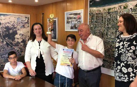 אלוף ישראל באיות באנגלית – תלמיד כיתה ה' מקריית ים