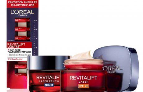 לוריאל פריז: שני מוצרי אנטי-אייג'ינג REVITALIFT LASER חדשים