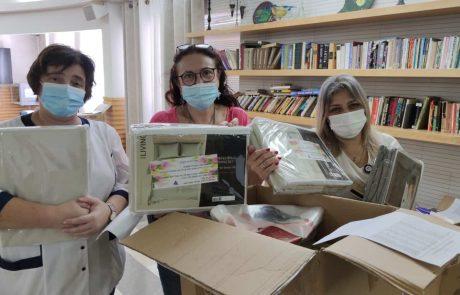 חיפה: בית האבות הספרדי העניק שי לעובדים על מסירותם בתקופת הקורונה