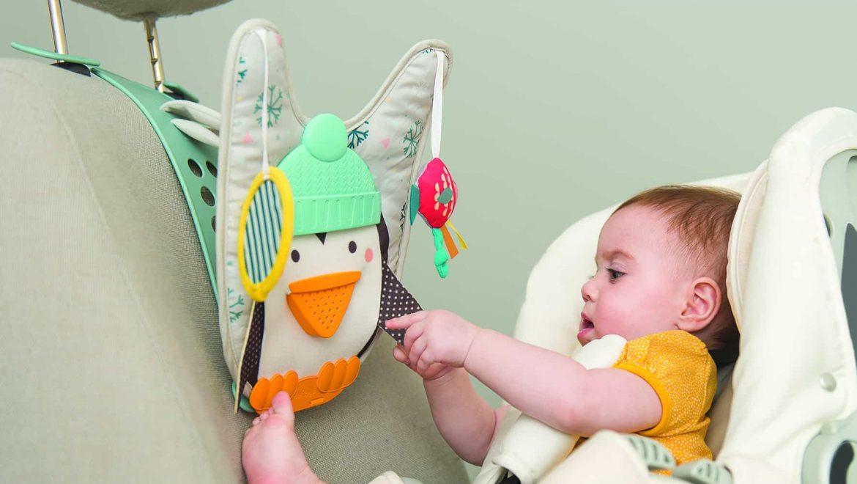 ככה מסיעים תינוקות: פינגווין מוזיקלי לרכב כולל שלט