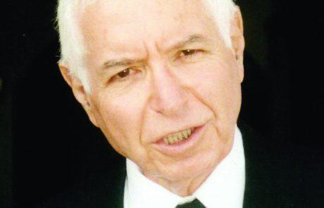 מבקר המדינה והשופט בדימוס מיכה לינדנשטראוס הלך לעולמו בגיל 81