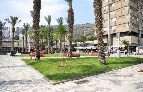 הסתיים השלב הראשון בשיקום כיכר מאירהוף  בקרית אליעזר שבחיפה