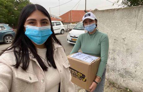 עיריית אופקים חילקה סלי מזון למבודדים
