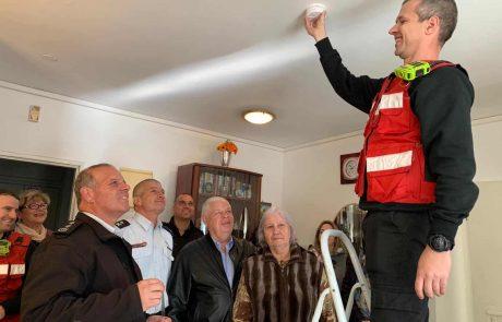 נוף הגליל: גלאי עשן יותקנו בבתי קשישים בעיר ללא תשלום