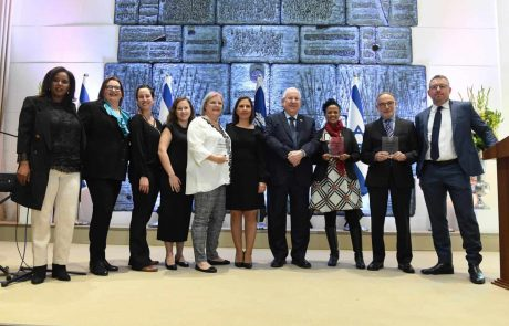 נשיא המדינה העניק אותות לפעילים המצטיינים במאבק בלימות כלפי נשים