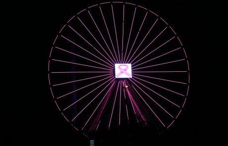 גלגל ענק בוורוד- לרגל חודש המודעות הבינלאומי לקידום המאבק בסרטן השד