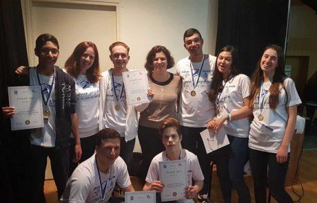 תלמידי נשר זכו במקום ה-1 בתחרות האקאתון המחוזית