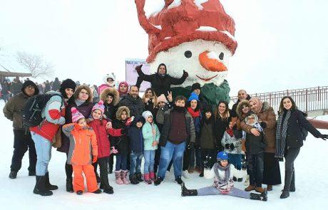 """מחמם את הלב: ילדי יחידת דיאליזה ברמב""""ם יצאו ליום כיף בשלג"""