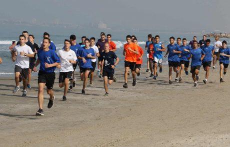 קרית ים: אליפות מרוצי השדה הרביעית התקיימה בחוף הים