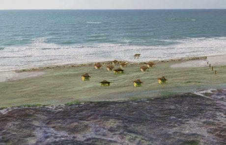 העדות הקדומה ביותר , להקמת קיר הגנה כנגד מי הים התגלתה מול קיבוץ החותרים