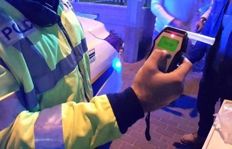 סוף שבוע בירושלים: נהגים שיכורים וכאלה שלא הוציאו מעולם רשיון נהיגה