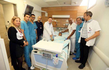 """הצעיר שנפצע קשה בתאונה נפגש עם צוות רמב""""ם שהציל את חייו בשטח"""