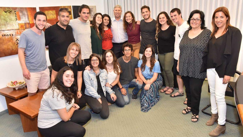קרית אתא : מפגש סיכום של מתנדבי  שנת שירות
