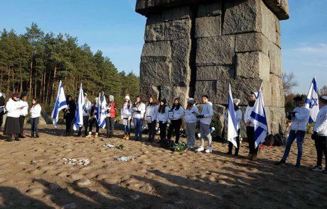 נשר העיר היחידה בישראל שמממנת לפחות מחצית מעלות המסע ללימוד השואה