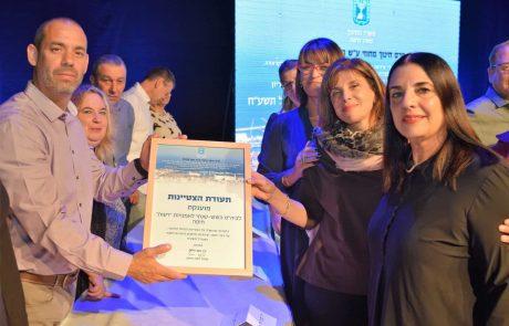 """פרס חינוך מחוזי ע""""ש רחל מתוקי ז""""ל הוענק לארבעה מוסדות חינוך חיפאיים"""