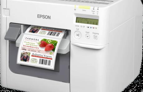 הדיו במדפסות המדבקות של Epson בטוח בשימוש גם במוצרי מזון